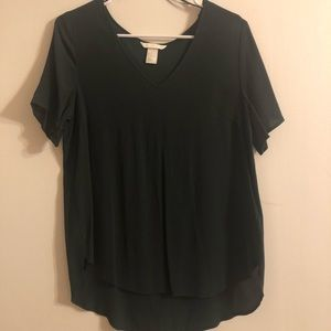 H&M Size 2 Forest Green Blouse